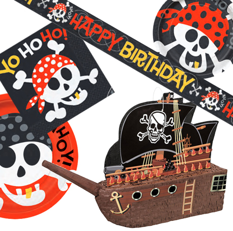 La vaisselle jetable pirate pour l'anniversaire de votre garçon
