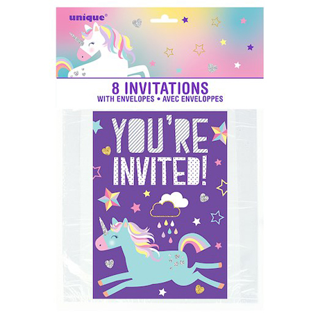 Les fameuses invitations Licornes pour inviter toutes les copines à son anniversaire