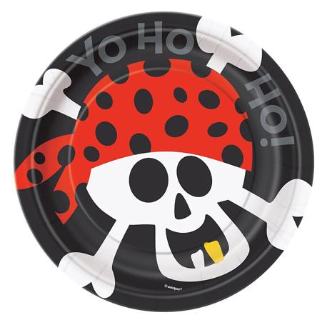 l'assiette jetable pirate pour un anniversaire réussi