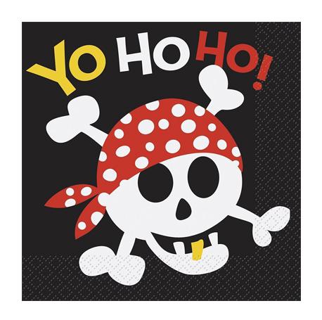 la serviette pirate pour un anniversaire d'aventuriers