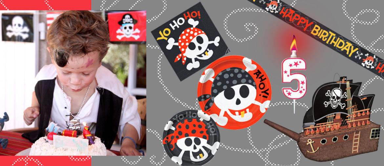 Optez pour une décoration d'anniversaire 100% pirate pour une fête inoubliable