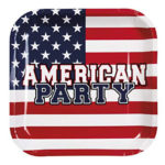 Assiette jetable usa pour american party