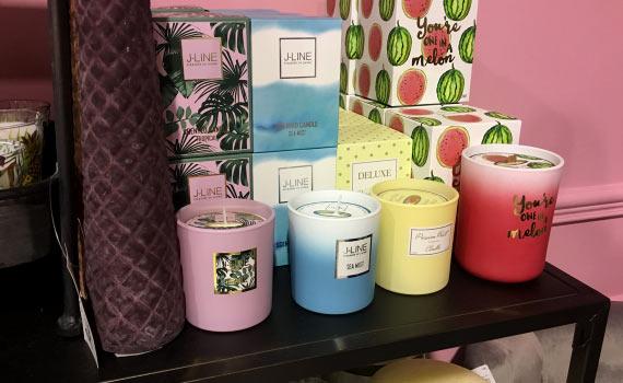 bougies décoratives parfumées home déco