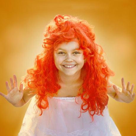 Perruque rousse pour halloween spécial petite fille