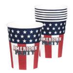 gobelet en carton usa pour american party