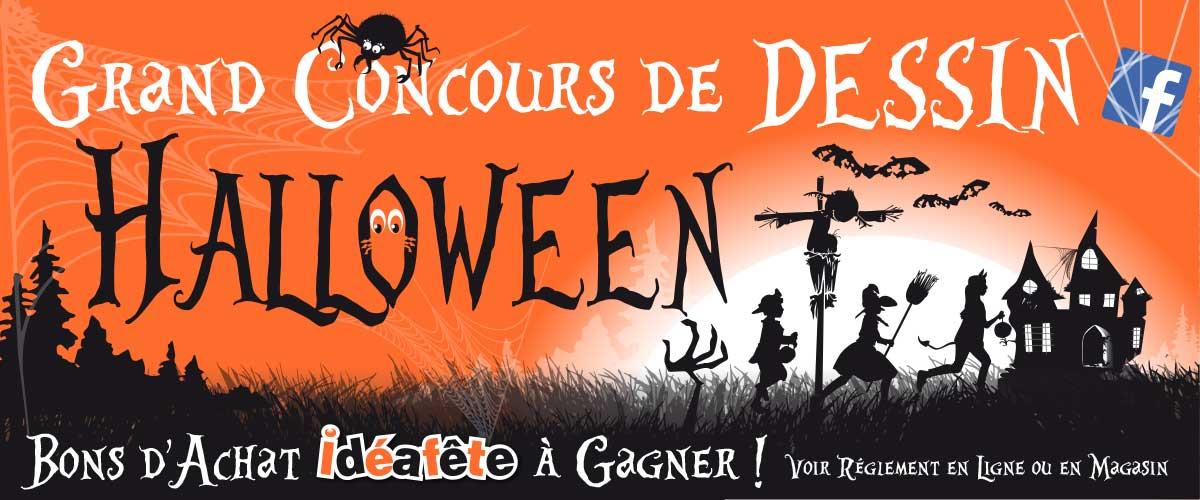 Concours halloween dessin pour enfants