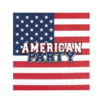 serviette en papier usa pour american party