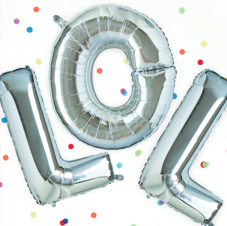 ballon hélium lettre