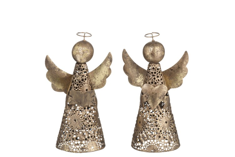 déco noel ange or figurine