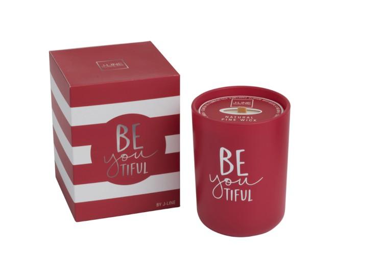 bougie rouge parfum d'ambiance
