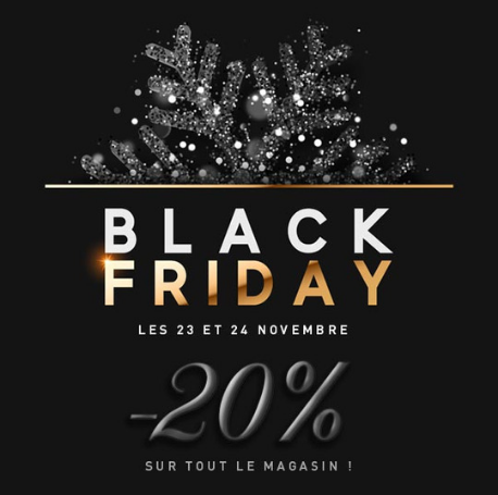 black friday boutique article de fête promotion