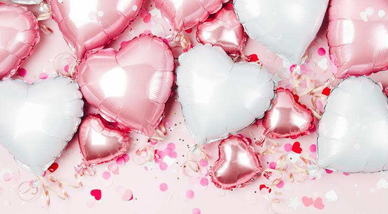 Un ballon hélium pour la saint-valentin