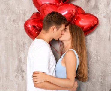 Décoration Saint-Valentin ballon rouge