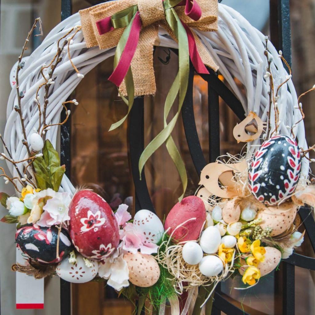 Couronne de pâques décoration