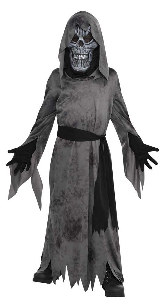 Costume de la mort avec masque terrifiant