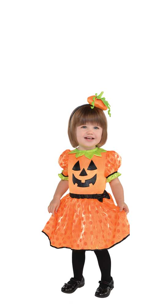 costume fille citrouille mignonne