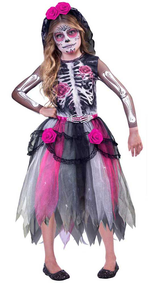 Costume fille day of the dead catarina