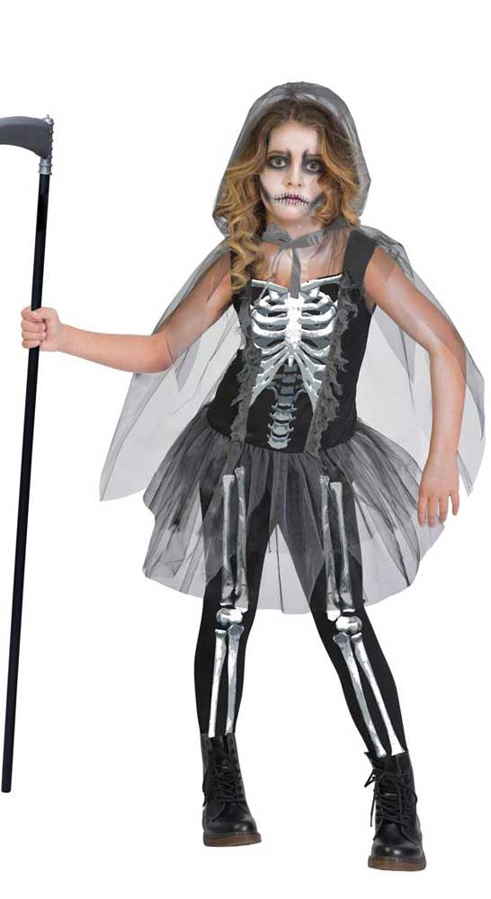 costume fille squelette de la mort