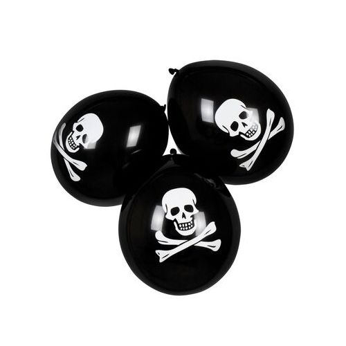 ballon noir pirate tete de mort halloween
