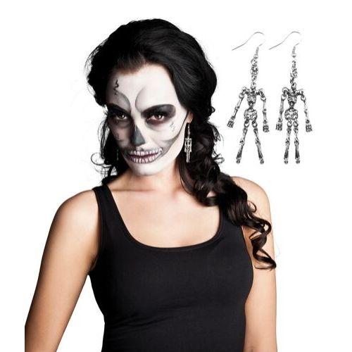 boucle oreille squelette halloween