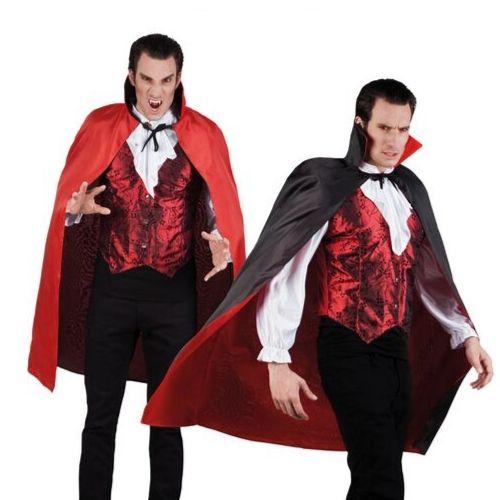 cape noir rouge vampire homme