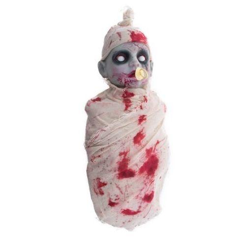 nourisson zombie animée pleurs deco halloween