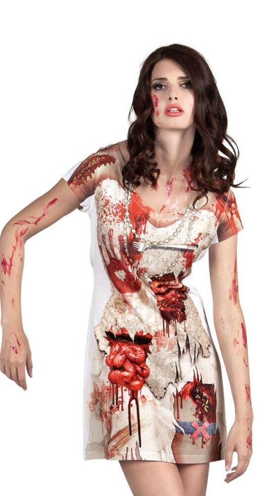déguisement t shirt robe femme mariée halloween