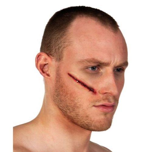 cicatrice visage sang halloween