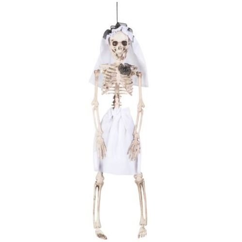 mariée hantée squellete déco halloween