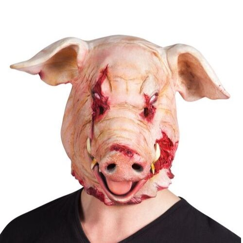 masque latex cochon halloween