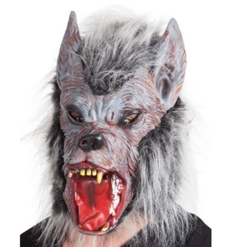 masque latex loup garou halloween