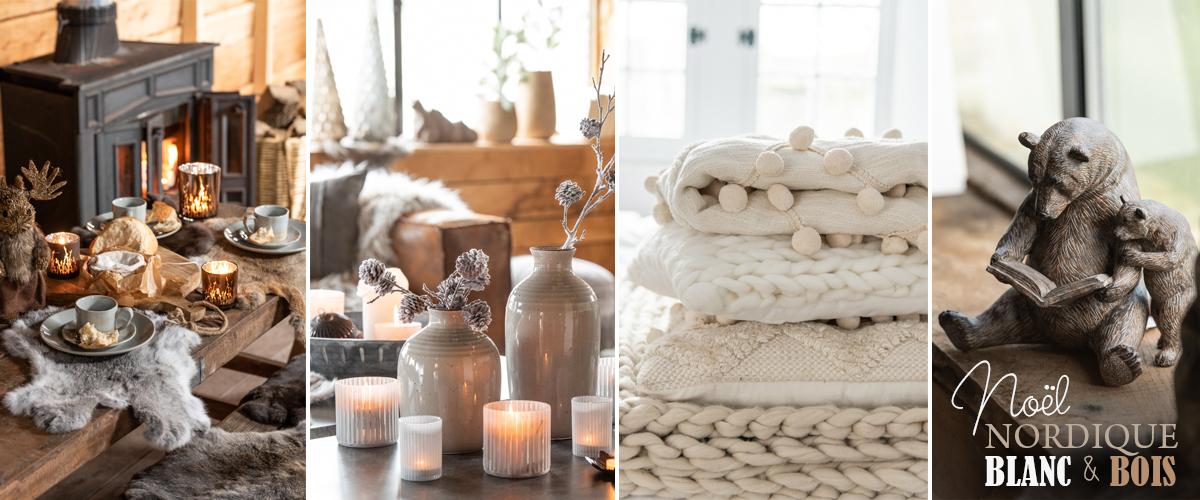 décoration de noe nordique blanc et bois