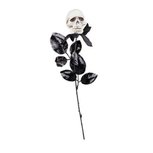 rose noir tete de mort halloween gothique