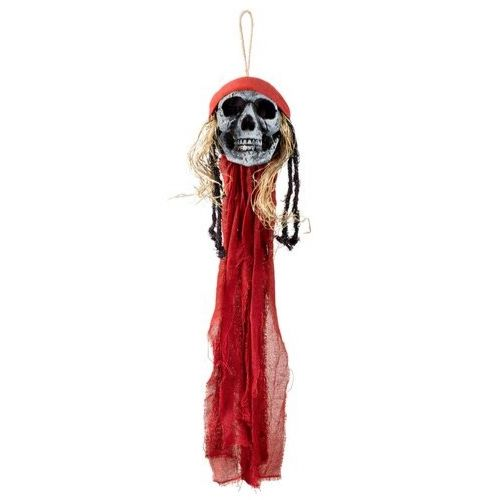 tete pirate squelettte deco halloween a suspendre