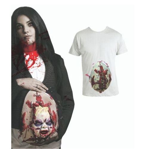 t shirt bébé animée femme enceinte halloween