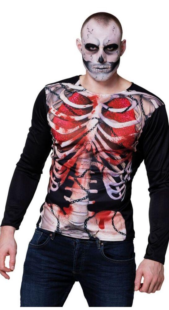 t shirt squelette déguisement halloween