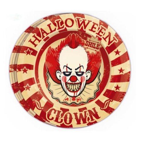 vaisselle clown ça halloween