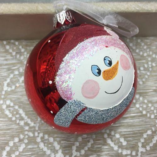 boule bonhomme de neige deco promo