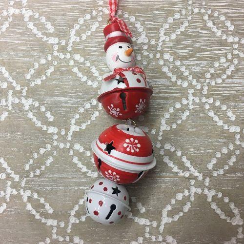 boule noel rouge blanche decoration sapin en promo
