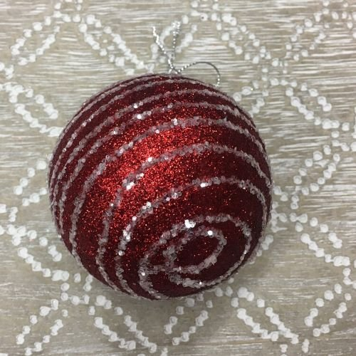 boule rouge noel deco sapin reduction