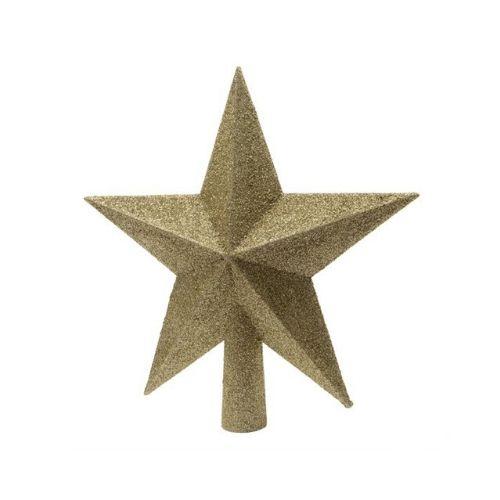 pointe cimier sapin en forme étoile argent deco de noel