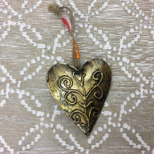 suspension-coeur deco noel pas cher