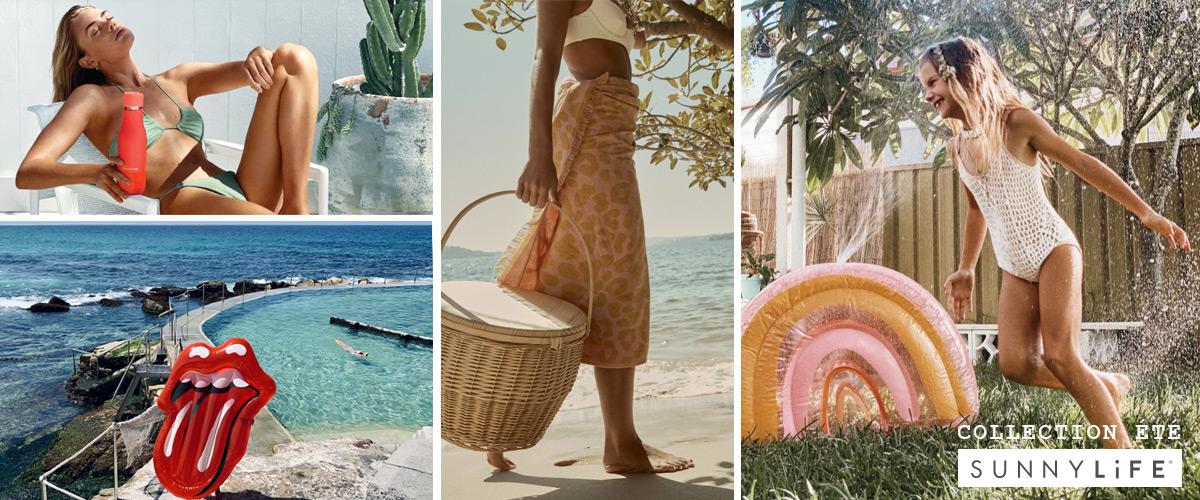 bouée géante sunnylife, accessoires plage